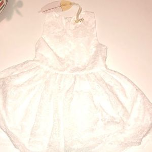 U Baby Dresses - Ubaby Lace White Girl's Dress
